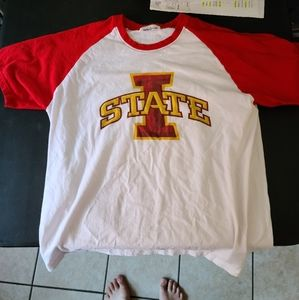 Unisex Iowa State Raglan T-Shirt Size L